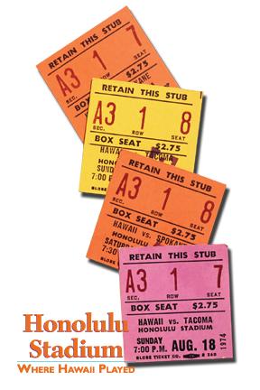 Honolulu Stadium: Where Hawaii Played - ticket stubs